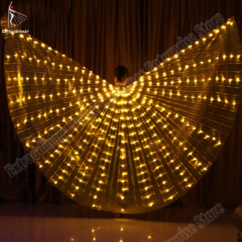 New Women LED Isis Wings For Dancing Accessories Costume Belly Dance Wing Butterfly 360 Degrees lamp Props Stage Performance