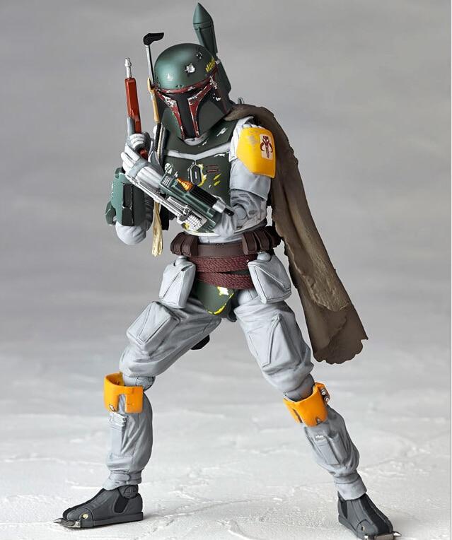 Star Wars Boba Fett Action Figure PVC Revoltech 150mm Anime Movie Toys Boba Fett Star Wars Action Figures Revoltech Toys