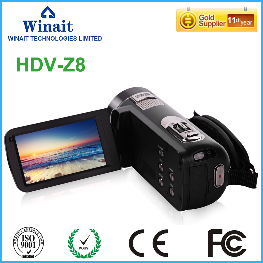 2017 newest 24MP FHD 1080P professional video camera 5.1MP CMOS 3.0Touch LCD display 16x digital zoom anti-shake hdv camcorder