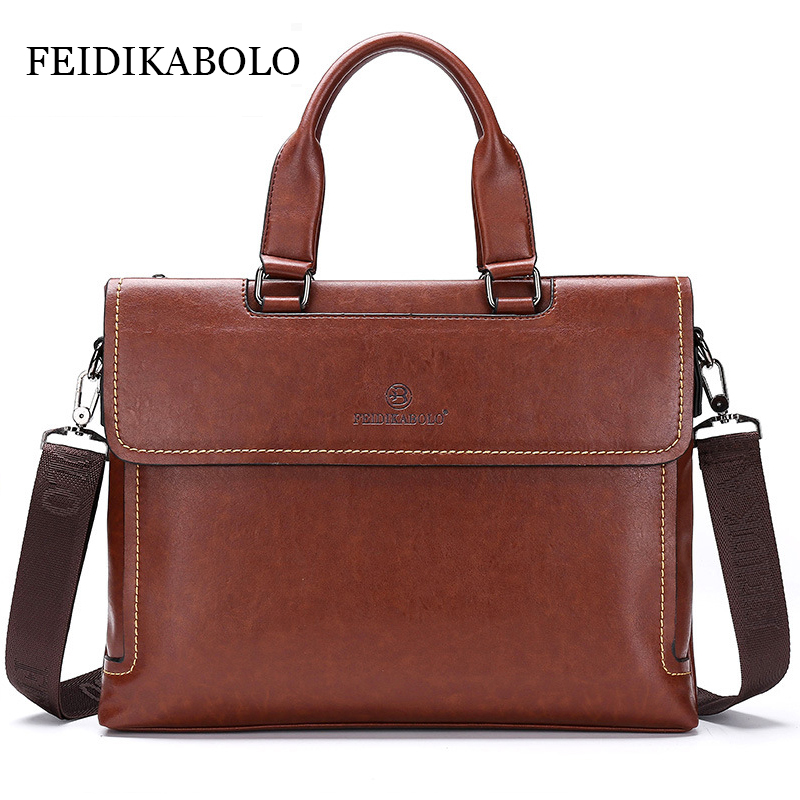 NEW High Quality Fashion Men Laptop Bag Leather Tote Handbag Briefcase Portfolio Men's Famous Brand Business Bags Shoulder Bag new high quality leather men laptop briefcase bag 14 inch computer bags handbag business bag fashion laptop handbag for men