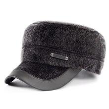Invierno 2017 sombreros de lana del casquillo del oído proteja caliente hombre  sombrero plegable Militar Boinas 7cb11182c05