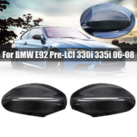 Carbon Fiber Rearview Mirror Cover for BMW E92 Pre LCI 330i 335i 06 08 Auto Exterior Accessories Door Side Mirror Cover for BMW