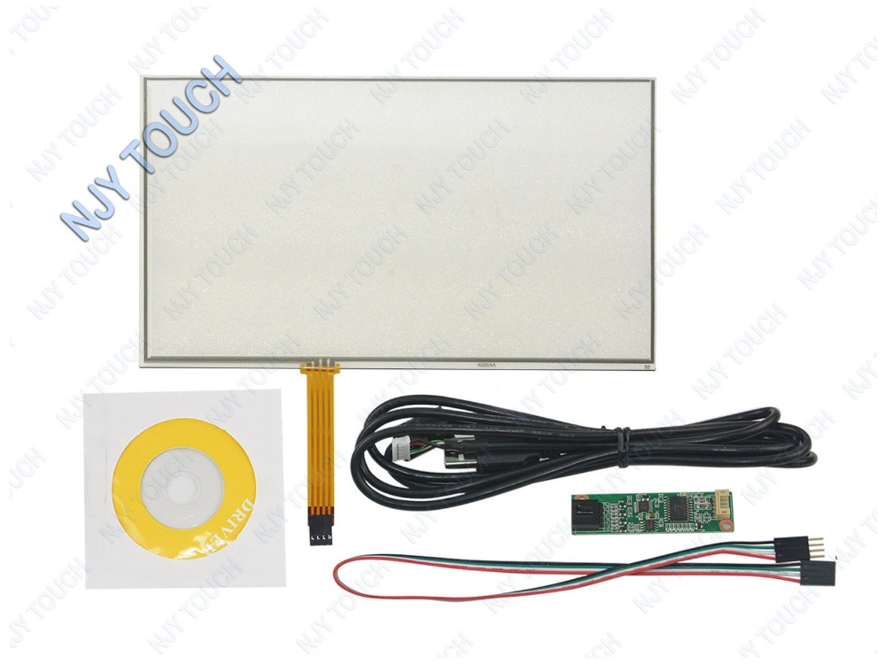 Us 54 14 5 Off 10 2inch 4 Wire Resistive Touch Screen Panel 234x145mm Usb Kit Diy Touch Monitor In Screens From Consumer Electronics On Aliexpress