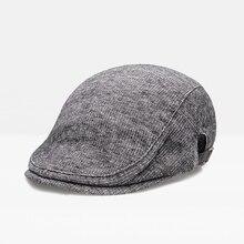 Осенне-зимние хлопковые регулируемые береты, шапка для мужчин и женщин, британский западный стиль, плоская кепка, классический винтажный полосатый берет, кепка s