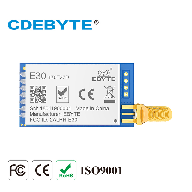 E30 170T27D SI4463 170 МГц 500 МВт SMA антенна IoT uhf беспроводной приемопередатчик приемник