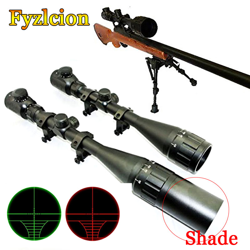 Hunting Rifle Scope 6-24x50 Aoe Riflescope Adjustable Green Red Dot Hunting Light Tactical Scope Reticle Optical