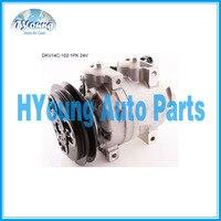 DKV14C de aire del compresor A/C para Hitachi excavadora Hyundai 506021-7082  5060217082 11N892040 A5000674001 24 V 102mm 1PK