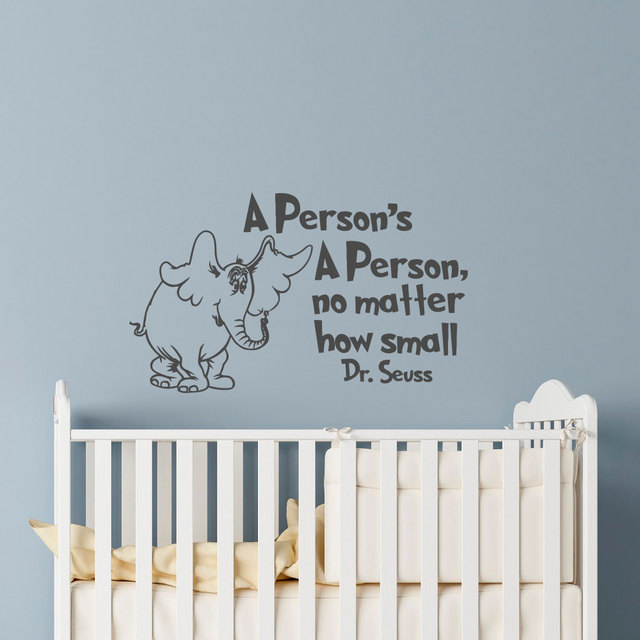 Elephant Quotes Wall Sticker, Cartoon Elephant Wall Decal For Kids Room  Nursery Baby Bedroom Decorate
