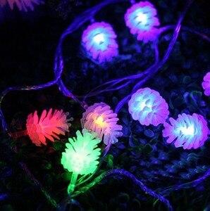 Image 5 - Guirlande en pin, 5M, 20 LED cordes pour arbre de noël, décorations de mariage, pour maison, plusieurs couleurs disponibles
