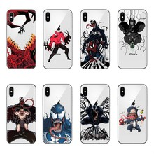 Newest Spider-man villain venom transparent soft silicone Phone Case Cover For iPhone X 10 6 6S Plus 7 7Plus 8 8Plus 5 5S SE 5C