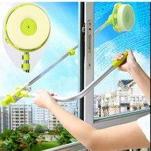 Glas Fenster Reinigungswerkzeug Versenkbare Pol Sauber Fenster Gerät Staub pinsel waschen Doppelseitigen Glasschaber Wischen reiniger pinsel