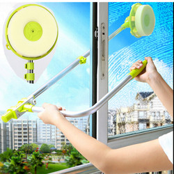 Glass Window Cleaning Brus Retractable Pole Clean Window Device Dust Brush washing Double Faced Glass Scraper Wipe Ceaner Tool