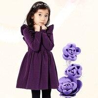 Winter Baby Dress Long Sleeve Velvet Ruffles Dresses For Princess Girl Clothing Party Dance Weeding Dress