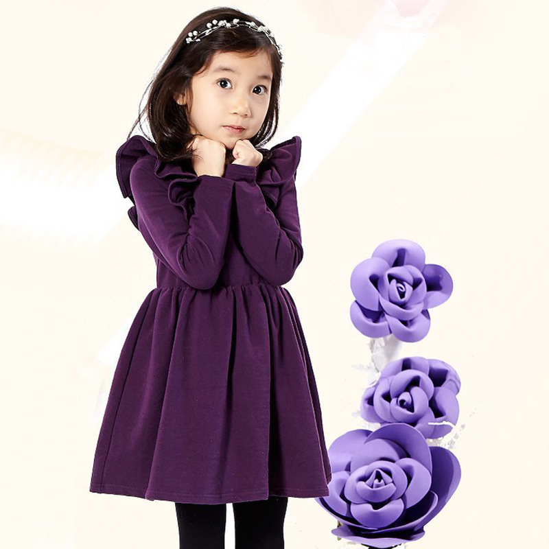 Winter Baby Dress Long Sleeve Velvet Ruffles Dresses For Princess Girl Clothing Party Dance Weeding Dress Of Teen Girls Clothes for cadillac ats full add on style carbon fiber mirror covers 2014 2015