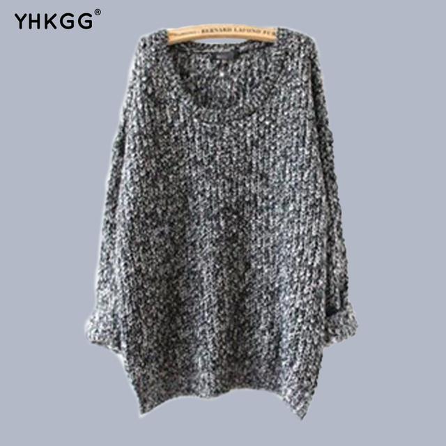 2016 yhkgg nova marca quente camisola de malha menina quente outono inverno pulôver de tricô inverno quente