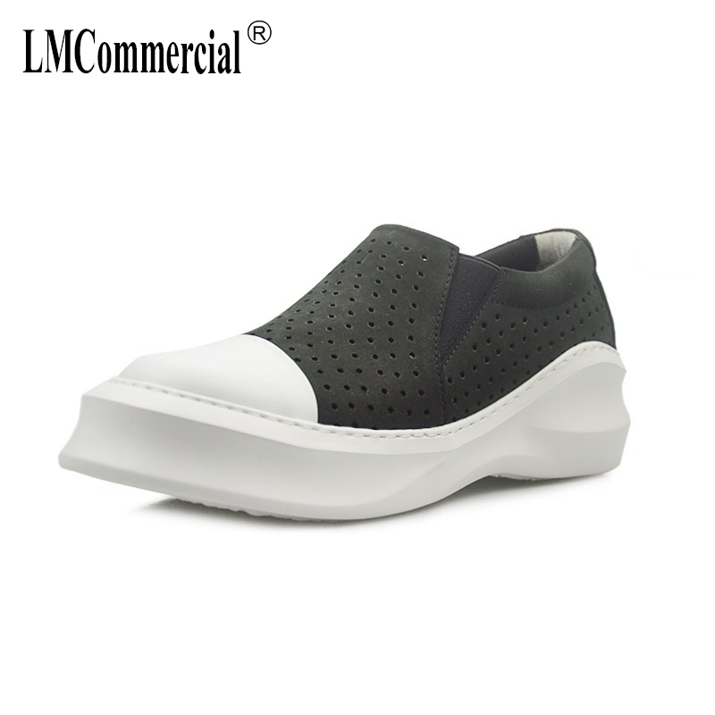 Summer new European and American leisure loafer Driving shoes Lazy Men autumn winter British retro men shoes all match cowhide in Men 39 s Casual Shoes from Shoes