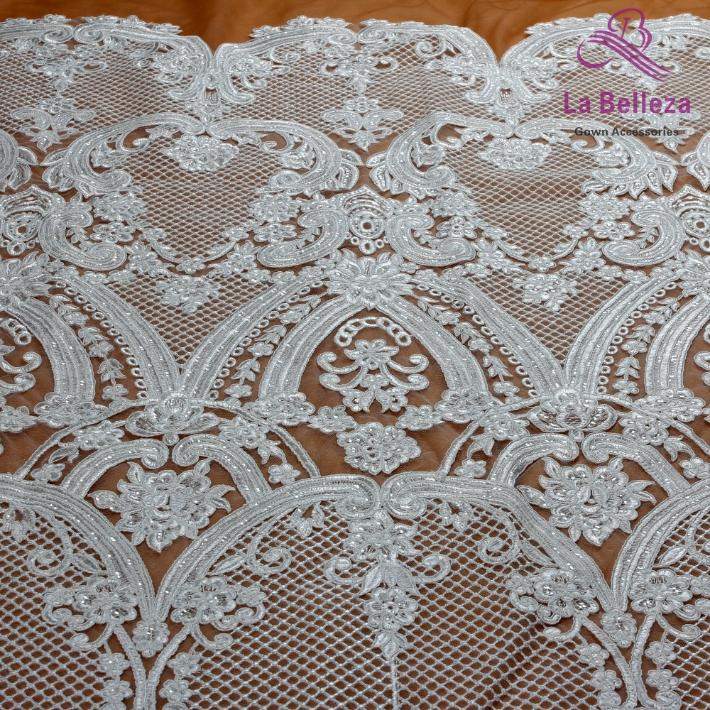 La Belleza 1 yard Ivory/black heavy high quality cord wedding bridal - Arts, Crafts and Sewing