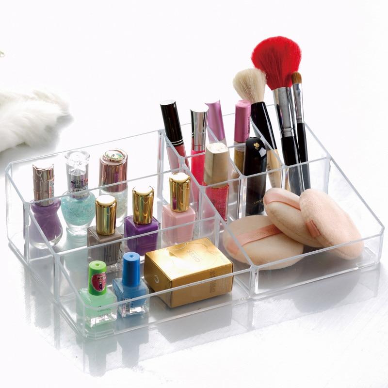 Bedroom Crystal Acrylic Jewelry Lipstick Storage Display Rack Make Up Storage Box Transparent Acrylic Cosmetic Storage Box