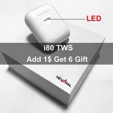 I80 TWS высокое качество клон 2nd Realtek чип всплывающие окна наушники супер бас гарнитура Беспроводные заряжаемые наушники PK i10 i30 i60