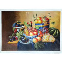 100% Hand Painted Classical Table Fruit Oil Painting On Canvas Wall Art Frameless Picture Decoration For Live Room Home Decor