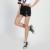 2017 Verão Novas Mulheres Shorts Jeans Calças Jeans Femininas Soltas Ampla perna Calças Curtas Rebarbas Borla Elásticas Shorts Jeans Jeans Mulheres calções