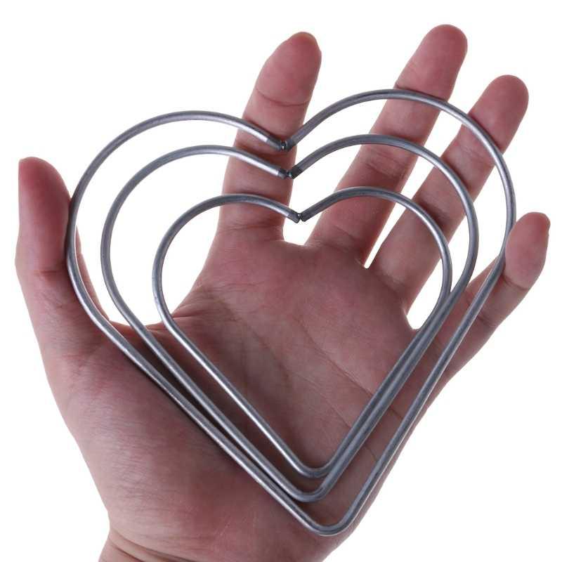 หัวใจโลหะ Dream Catcher Dreamcatcher แหวน Macrame Craft Hoop อุปกรณ์เสริม DIY Handmade หวายงานฝีมือ Dreamcatcher เครื่องมือ
