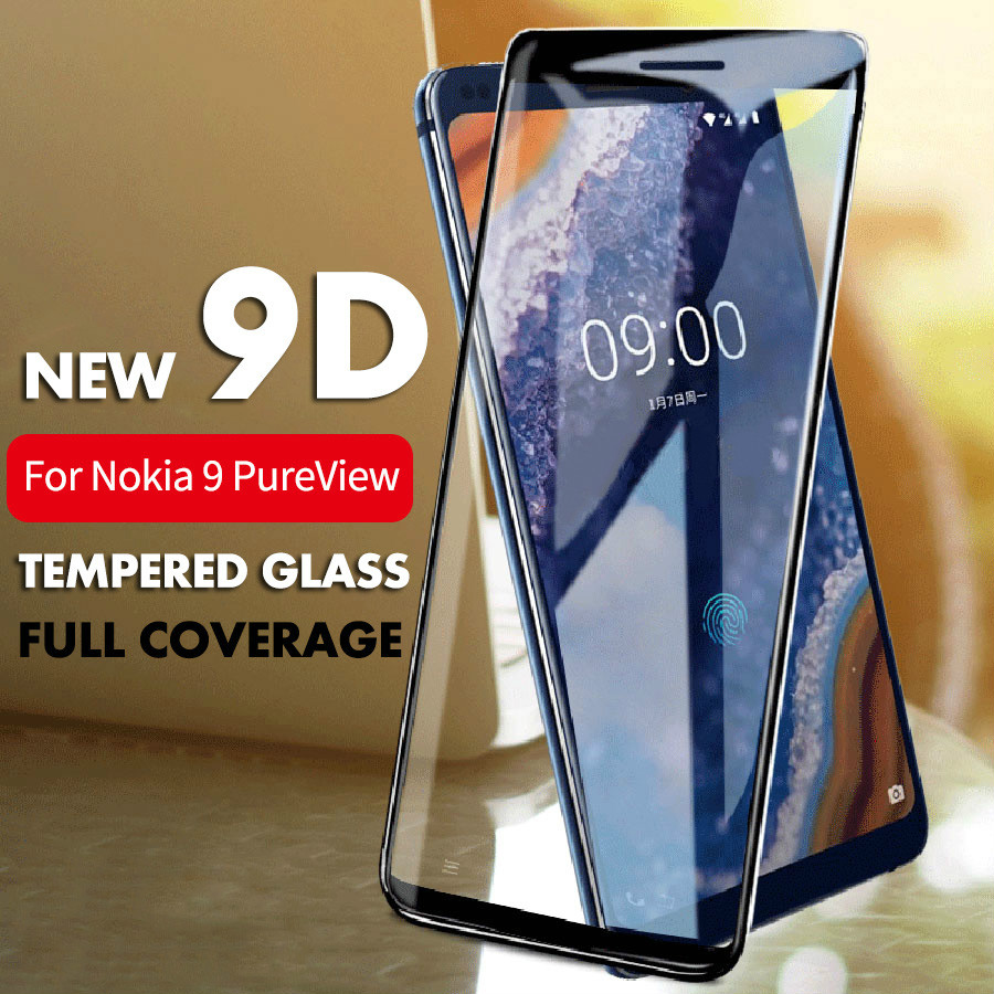 9D Full Cover Protective Glass For Nokia 1Plus 4.2 3.2 Screen Protector On Nokia 8.1 7.1 6.1 3.1 Plus 5.1 3 6 8 Tempered Glass