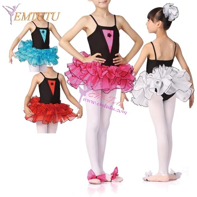 ff9f65c1f198 Hot Pink Organza Black Lycra Toddler Kids Ballet Tutu Dress