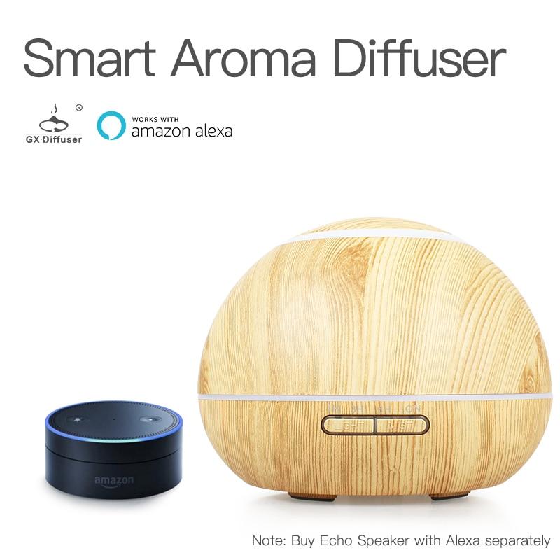 GX.Diffuser 300ML Air Humidifier Ultrasonic WiFi Smart Aroma Diffuser WiFi APP Aromatherapy Oil Diffuser Electric Mist Maker