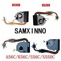 Para Asus K56C K56CM K56CB S550C A56C S56C X53S K53E K53S A53S K53SJ K53SV Ventilador do Dissipador De Resfriamento Laptop Radiador CPU Cooler|Ventiladores e resfriadores| |  -