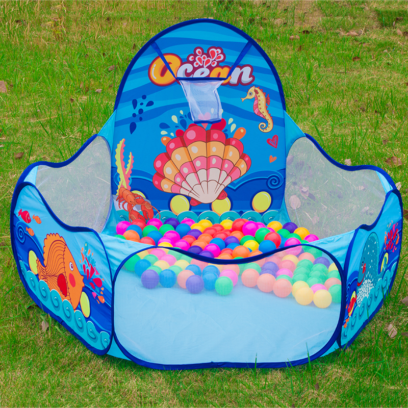 Cartoon Ocean Folding Hexagon Børn Ball Spil Pool Telt Portable Kids Playpen Ball Pit Pool Udendørs Play Toy Tent 985-Q47
