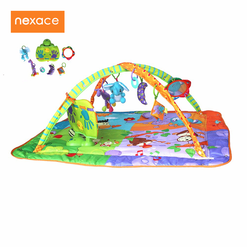 Baby Floor Rug Musical Developing Gym Mat For 2-10 Months