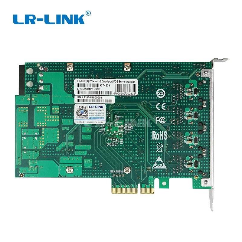 Image 4 - LR LINK 2004PT POE Quad Port POE+ gigabit Ethernet RJ45 Frame Grabber Industrial board PCI Express Video capture card Intel I350-in Network Cards from Computer & Office