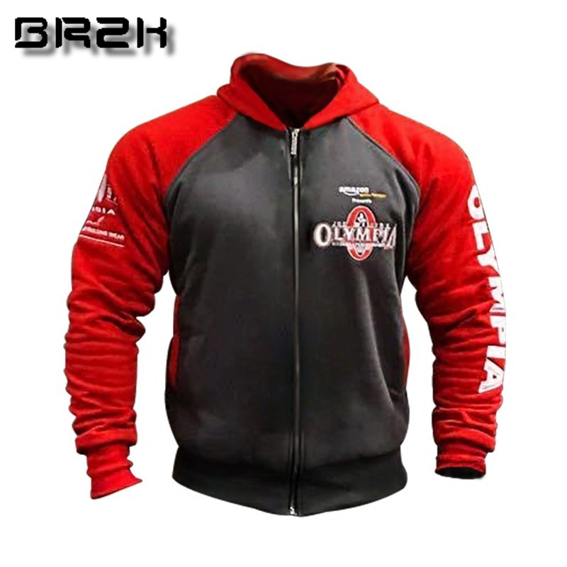 Clothing Hoodies Sportswear Pullover Jacket Fitness Workout Bodybuilding OLYMPIA Gyms