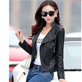 2016 women's stand collar short design genuine leather Coat female jacket women's leather clothing Mulheres jaqueta de couro 3XL