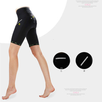 CHEJI Black Women S Bike Bicycle Gel Padded Shorts Cycling Short Pants Trousers Tights Reflective For