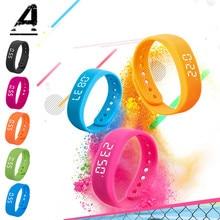 Watch Smart Waterproof Bracelet Sports Wristband LED Screen Fitness Step Wrist pk Mi Band 3