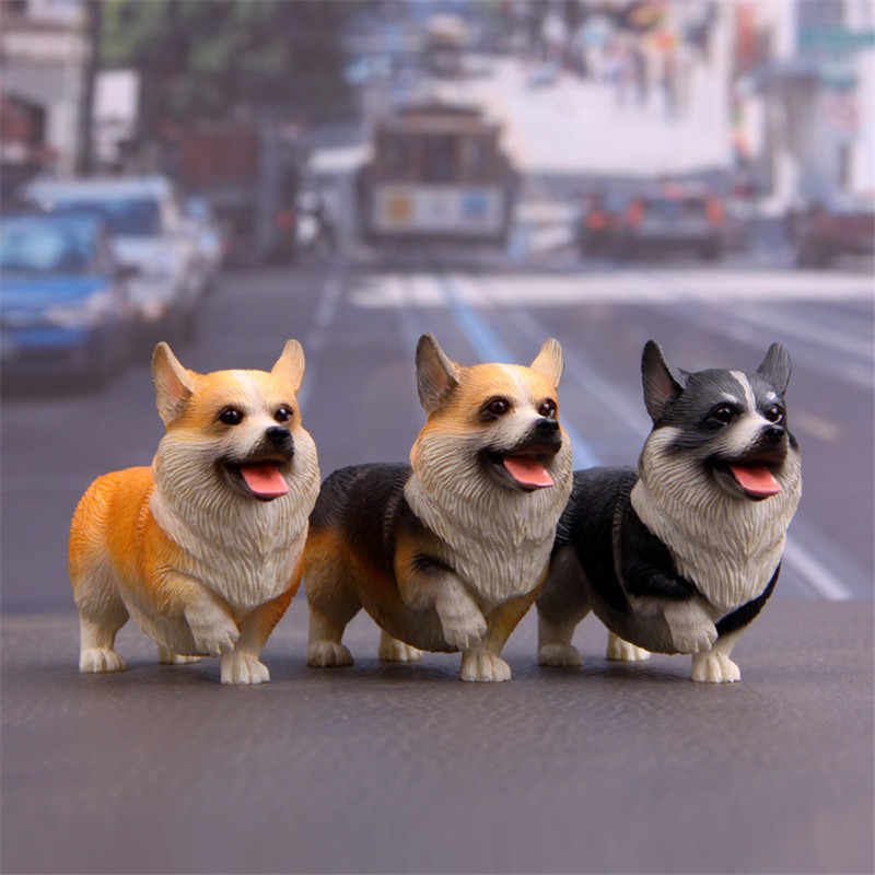 ZOCDOU 1 Piece Dog Welsh Corgi Pembroke Child Guard Britain England UK United Kingdom Model Figurine Crafts Figure Miniatures