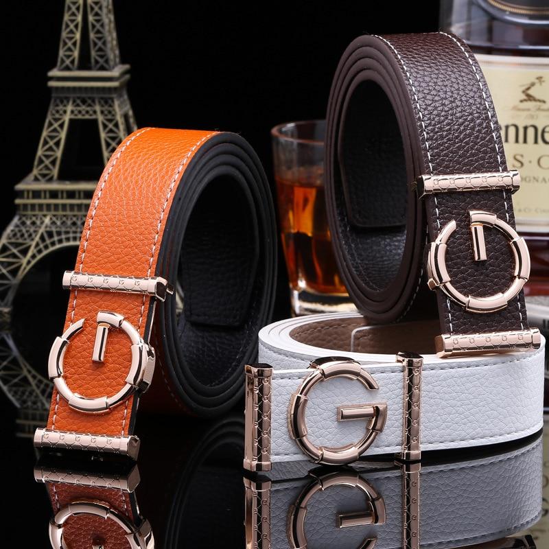 2018 Brand Ladies luxury   belts   cummerbunds for women G buckle   Belt   Genuine Leather   belt   Fashion genuine leather men   belts   buckle