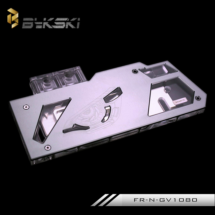 Bykski Full Cover Graphics Card Water Radiator Cooling Block use for GIGABYTE GTX1080 1070 1060 Iron Cover FR-N-GV1080 bykski public version full cover graphics card water cooling block use for rx480 ati cooler with rgb light gpu radiator block