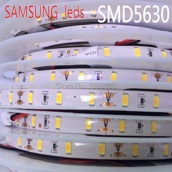 samsung smd 5630 led strip 5m 60leds m 12v tape light waterproof natural neutral warm white. Black Bedroom Furniture Sets. Home Design Ideas