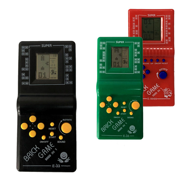 """Tetris Hand held Game player 2.7"""" LCD Electronic Game Toys Pocket Game Console Classic Childhood For Gift"""