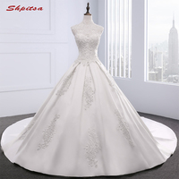 Lace Wedding Dresses 2017 Ball Gown High Neck Beaded Country Western Weddingdress China Bridal Gowns Weding Weeding Dress
