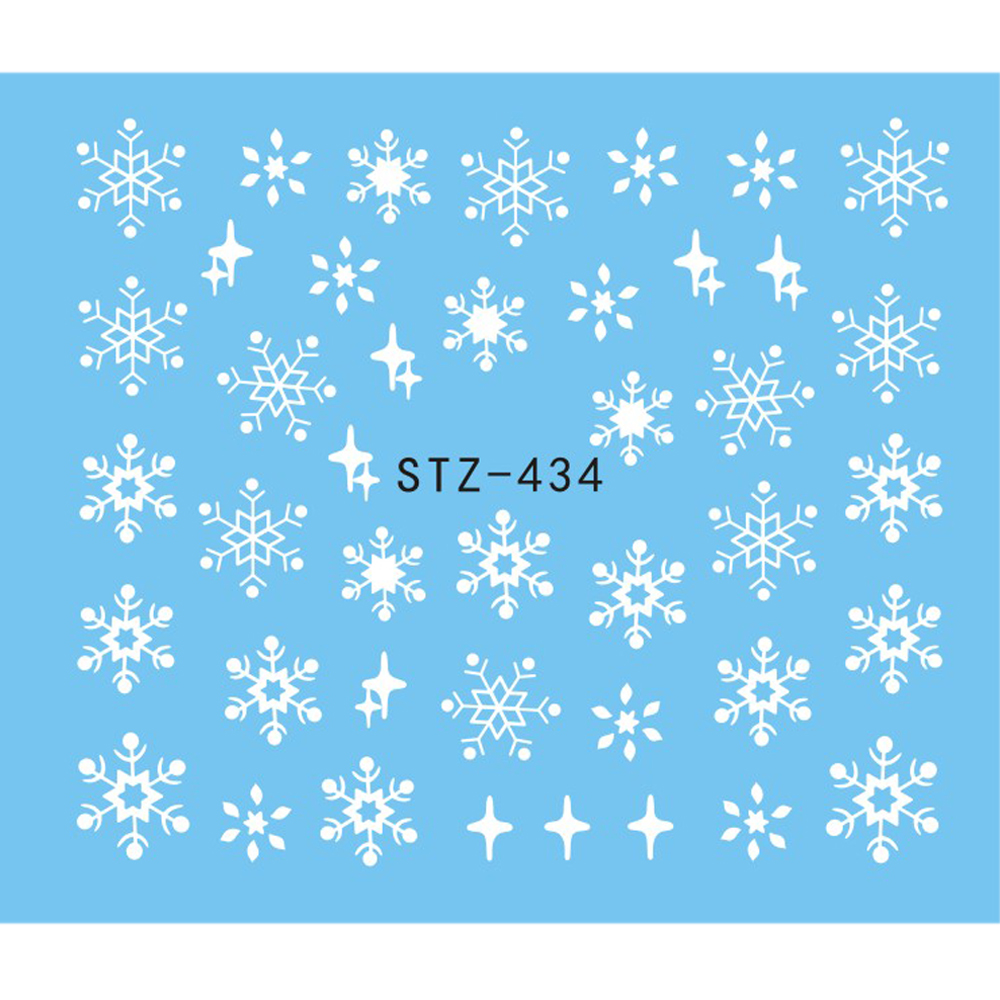 1 Sheet Water Nail Sticker Christmas Design Temporary Tattoos Elk/Snow Flowers/Owl Pattern Transfer Beauty Nail Art TRSTZ429-439 4