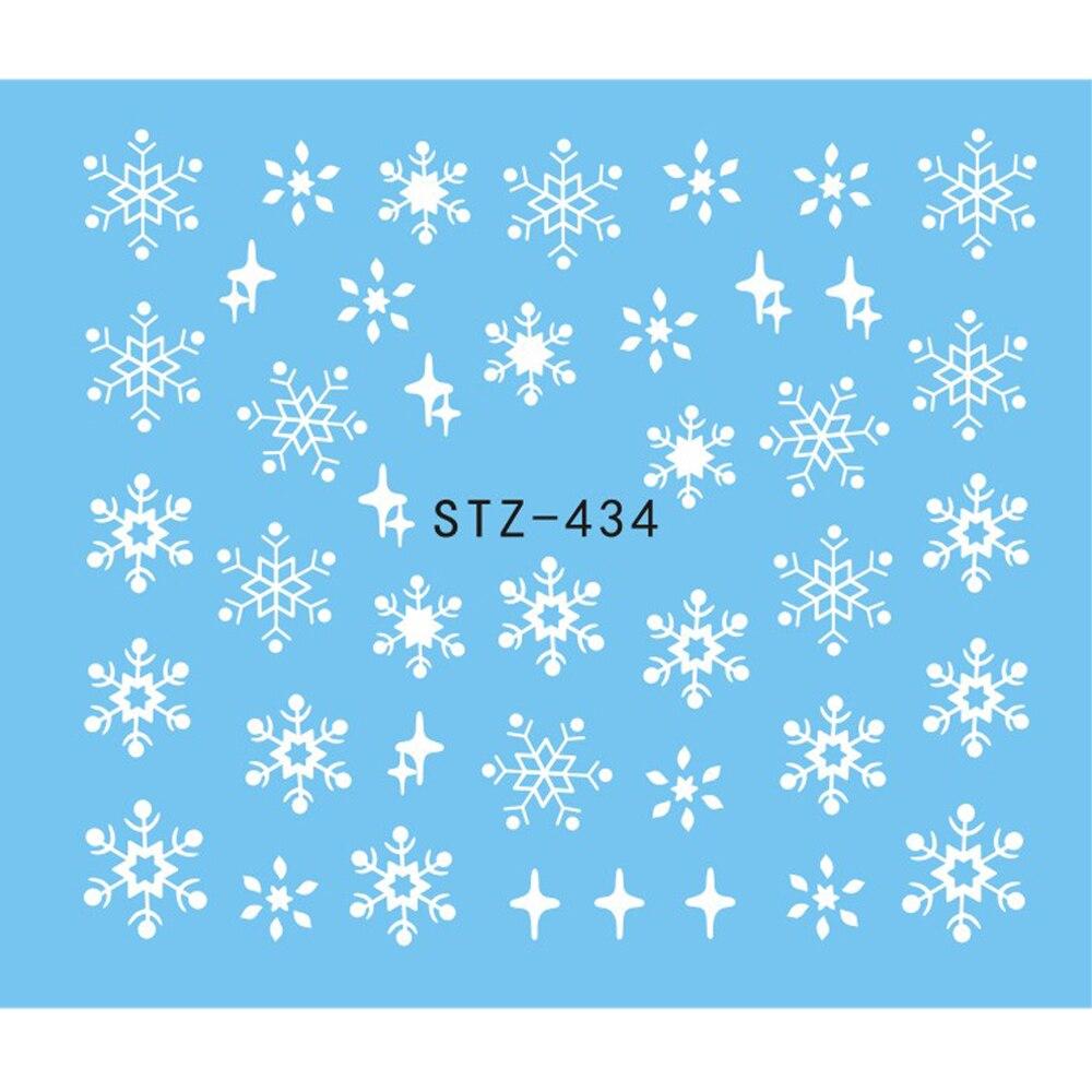 1 Sheet Water Nail Sticker Christmas Design Temporary Tattoos Elk/Snow Flowers/Owl Pattern Transfer Beauty Nail Art TRSTZ429-439 4