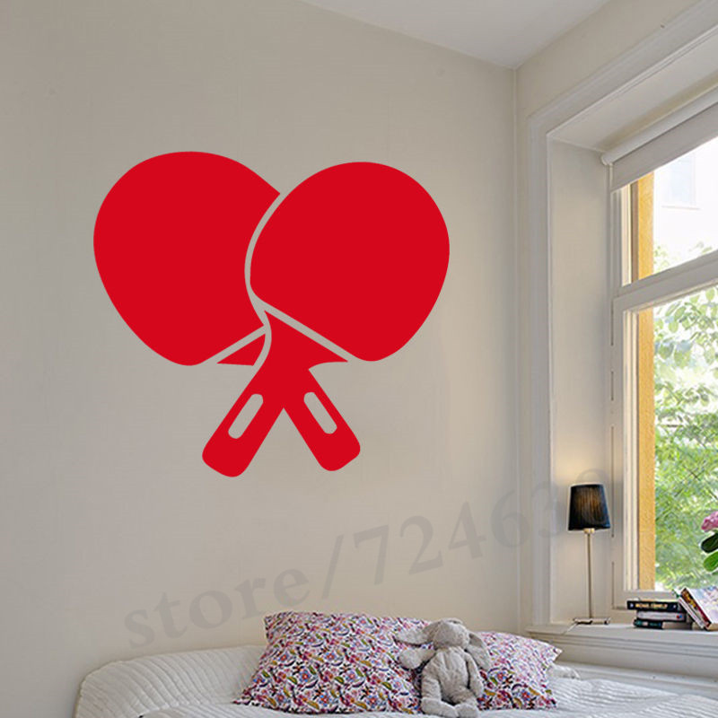 Table Tennis Ping Pong Vinyl Decal Wall Stickers For GYM Removable Home Decor Living Room Wall Decals Sport Teen Boys Room