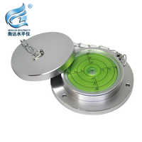 Package freight Metal Round Level Bubble with protective Cover Large Universal Spirit Horizontal bubbles100*75*20mm
