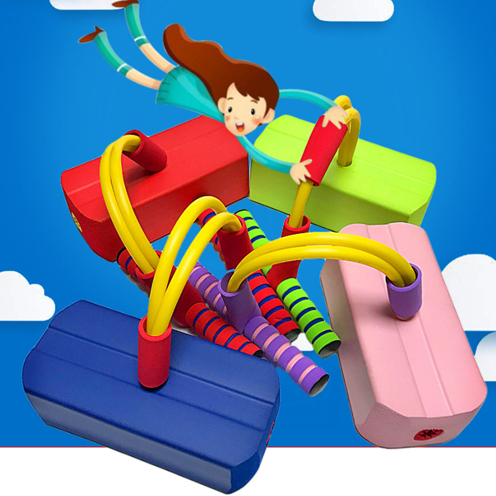 Teaching Increase Educational Toys Jumping Sports Outdoor Games Toys Children Rubber Crazy Jumping Stilts Safety For Kids Toy