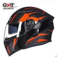 Dot Standard GXT Flip Up Helmet Full Face Motorcycle Motocross Helmet With Inner Sun Visor Modular