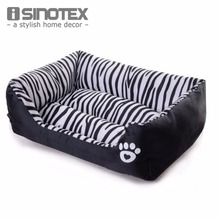 Waterproof, comfortable zebra-pattern cat bed